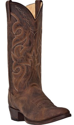 Dan Post Renegade Cowboy Boots - Round Toe, Bay Apache, hi-res
