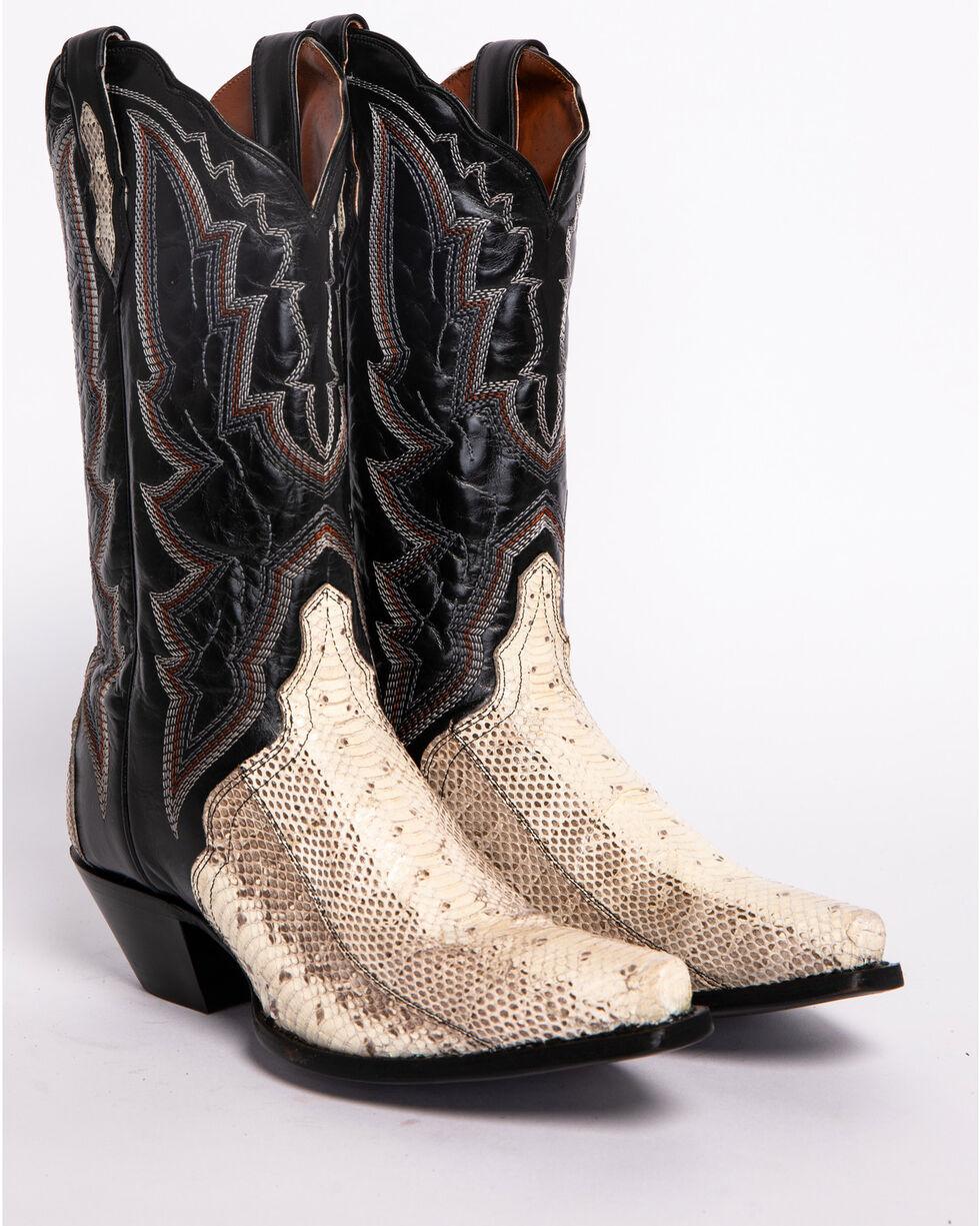 Dan Post Women's Natural Water Snake Triad Cowgirl Boots - Snip Toe , Natural, hi-res