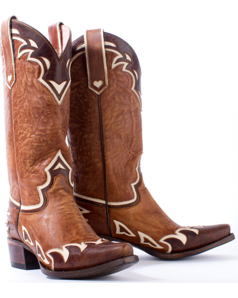 Junk Gypsy by Lane Women's Brown Back 40 Boots - Snip Toe , Brown, hi-res