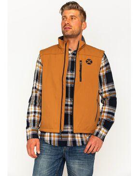HOOey Men's Tan Fleece Lined Vest , Tan, hi-res