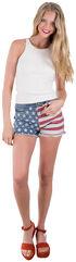 Others Follow Women's Patriot Flag Shorts, Patriotic, hi-res