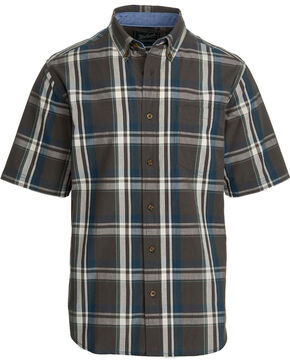 Woolrich Men's Juniata Short Sleeve Shirt, Grey, hi-res