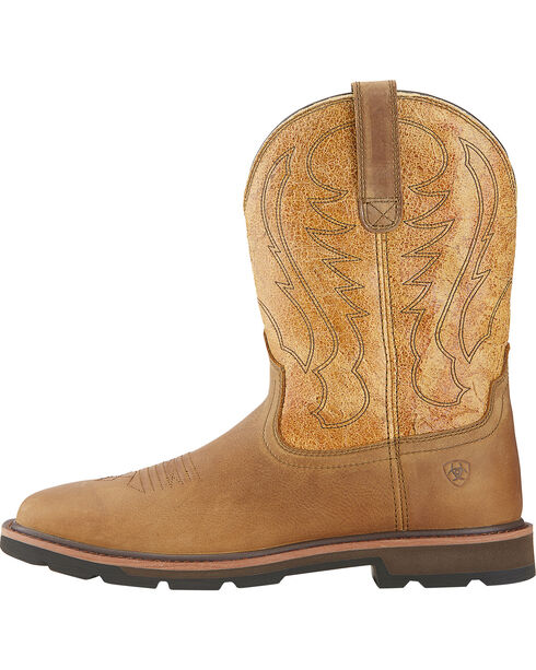 Ariat Groundbreaker Cowboy Boots - Square Toe, Dusty Brn, hi-res