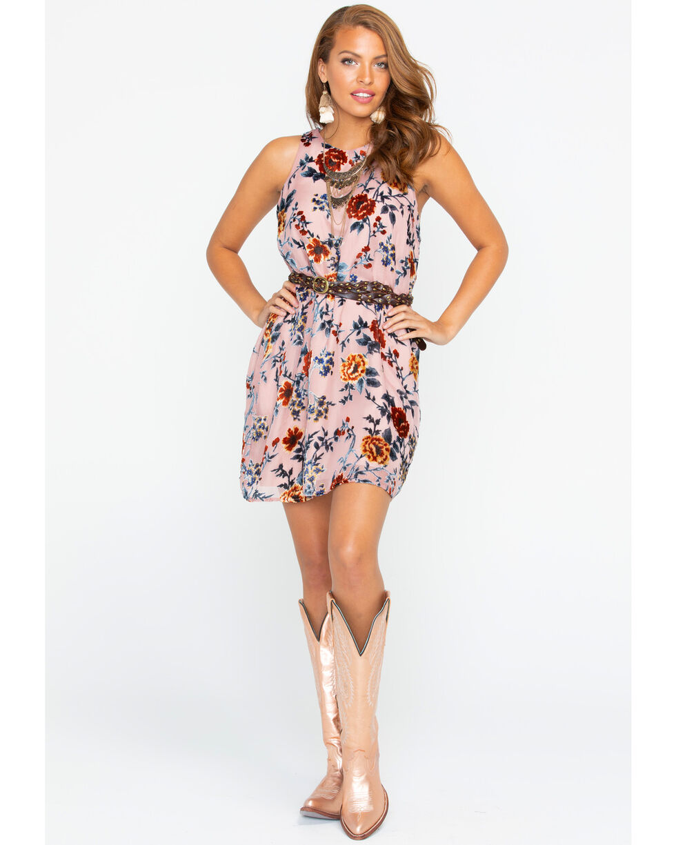 Miss Me Women's Pink Electric Boom Floral Dress , Pink, hi-res