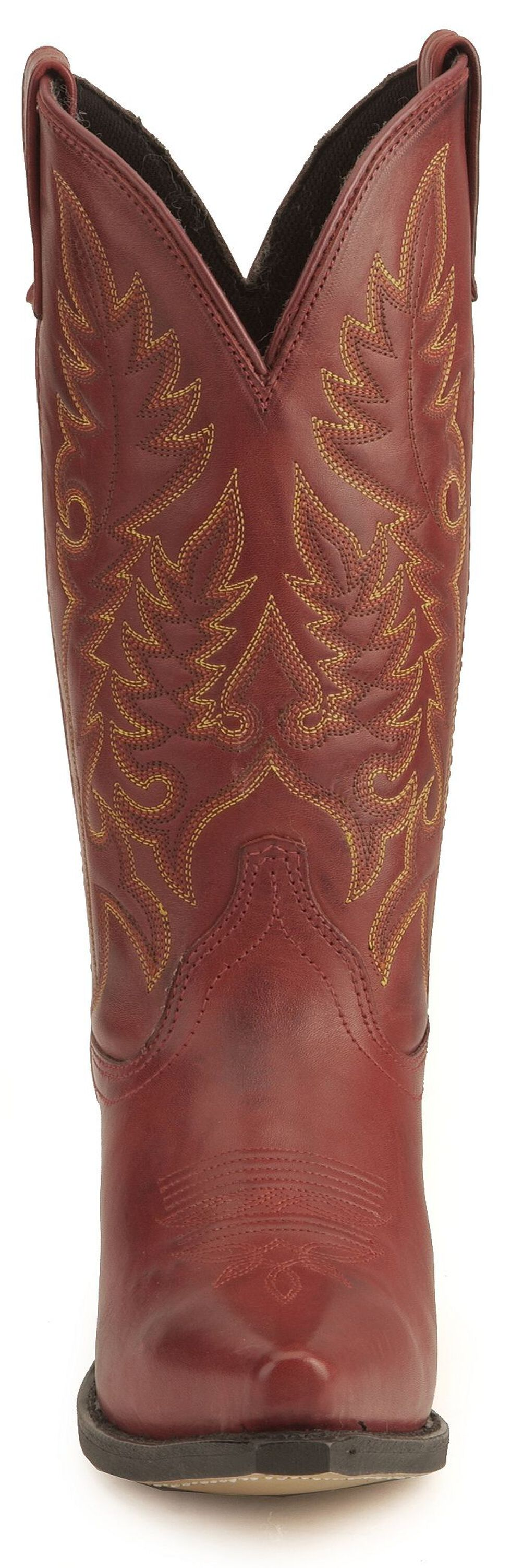 Laredo High Heel Red Cowgirl Boots - Snip Toe, Red, hi-res