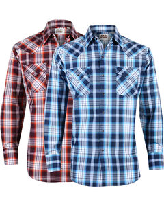 Ely Cattleman Men's Assorted Lurex Plaid Long Sleeve Shirt , Multi, hi-res