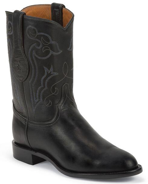Tony Lama Signature Series Rista Calf Cowboy Boots - Round Toe, Black, hi-res