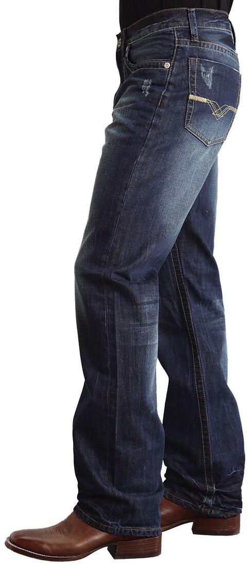 "Stetson Modern Fit ""V"" Stitched Jeans, Dark Stone, hi-res"