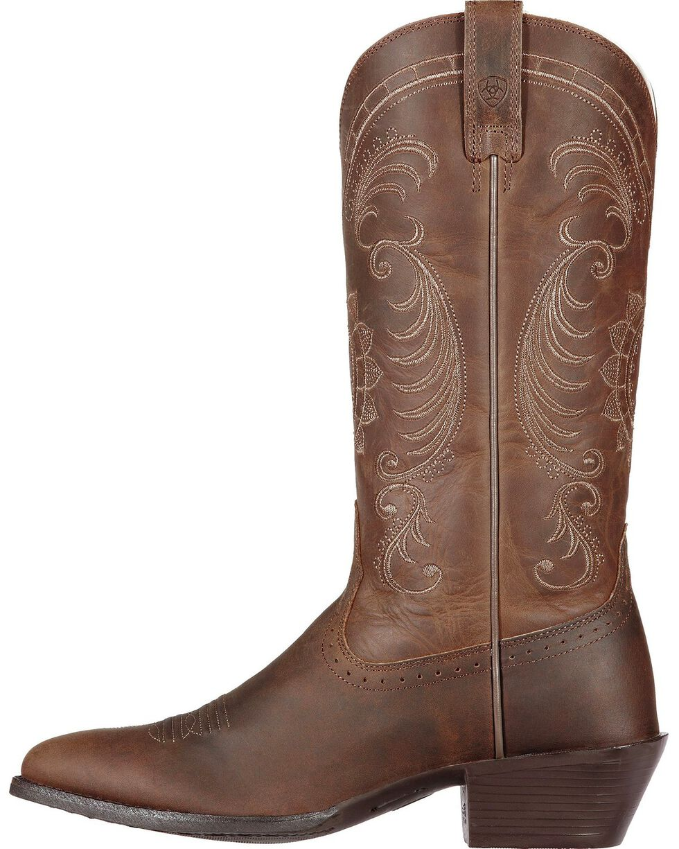 Ariat Magnolia Sunflower Stitch Cowgirl Boots - Medium Toe, Brown, hi-res