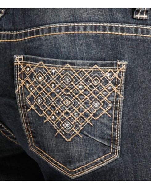 Rock & Roll Cowgirl Women's Embellished Boyfriend Jeans - Straight Leg , Indigo, hi-res