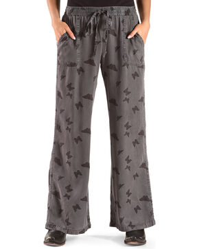 Billy T Women's Butterfly Drawstring Pants, Blue, hi-res