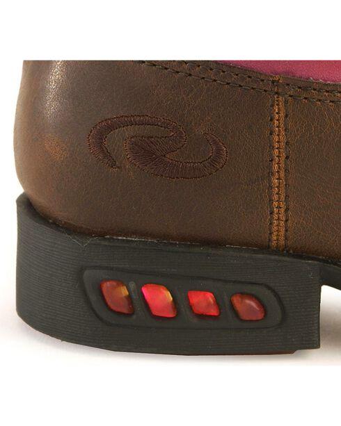 Roper Toddler Girls' Light Up Pink Bronco Cowgirl Boots, Tan, hi-res