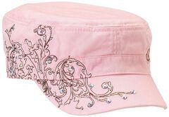 Blazin Roxx Embellished Turquoise Scroll Stitched Cap, Pink, hi-res
