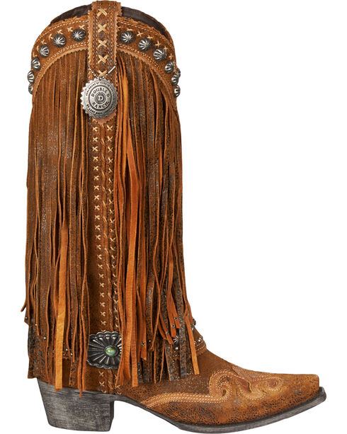 Lane for Double D Ranch Women's Brown Prescott Boots - Snip Toe , Chili, hi-res