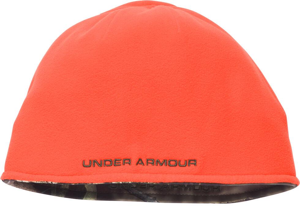 Under Armour Men's Camo Reversible Fleece Beanie Cap, Mossy Oak, hi-res