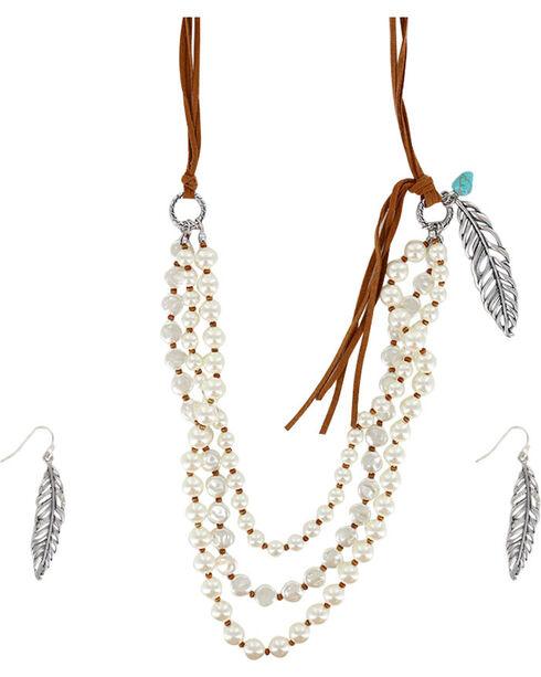 Shyanne Women's Western Charmer Jewelry Set, Silver, hi-res