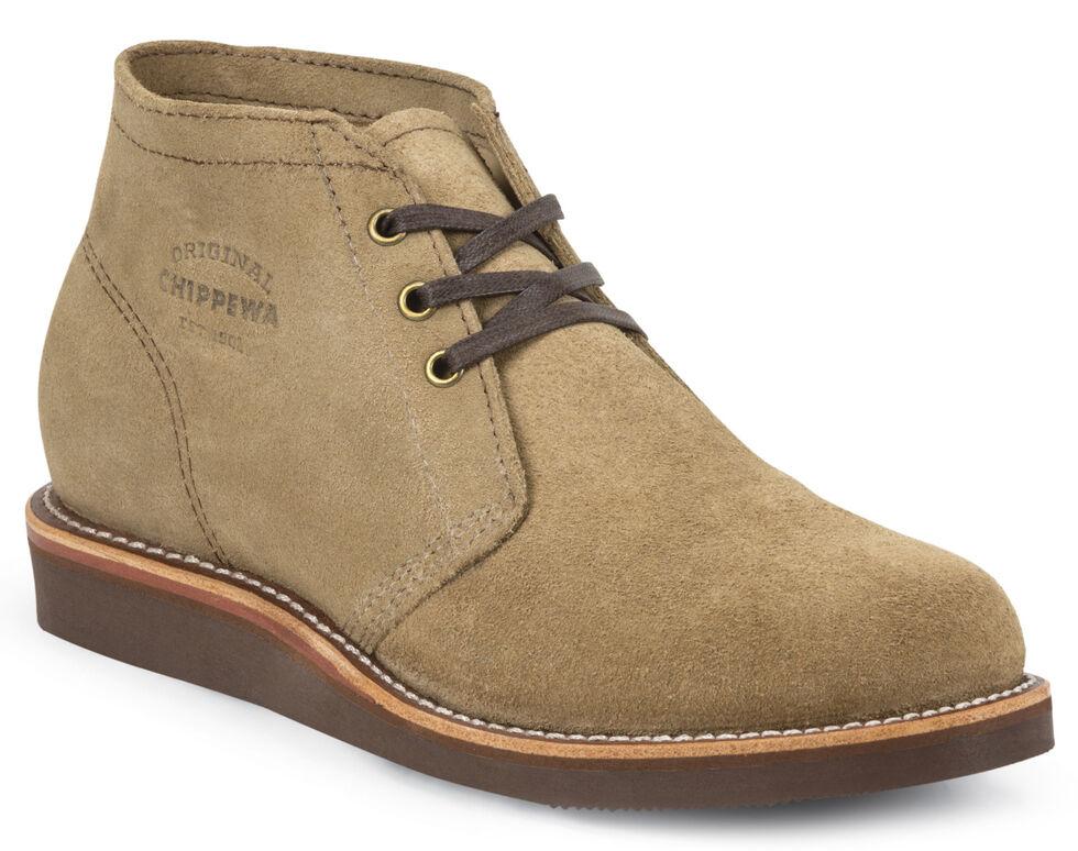 Chippewa Men's Modern Suburban Khaki Suede Shoes, Khaki, hi-res