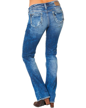 Silver Women's Aiko Mid Dark Wash Bootcut Jeans , Blue, hi-res