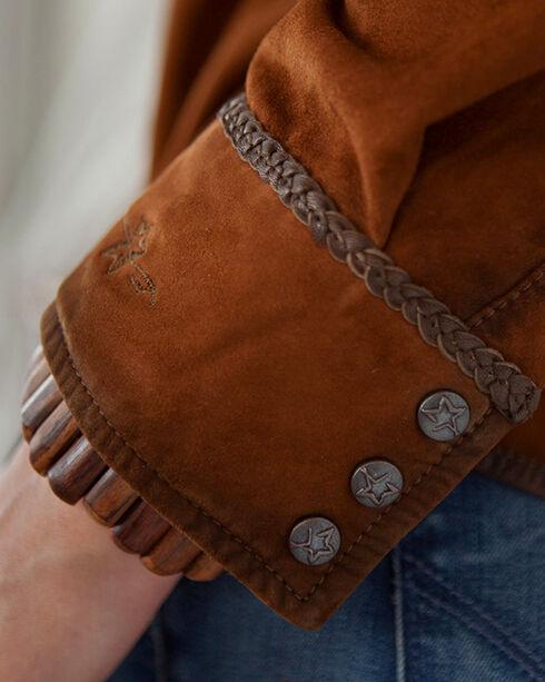 Ryan Michael Women's Acorn Santa Fe Leather Shirt, Brown, hi-res