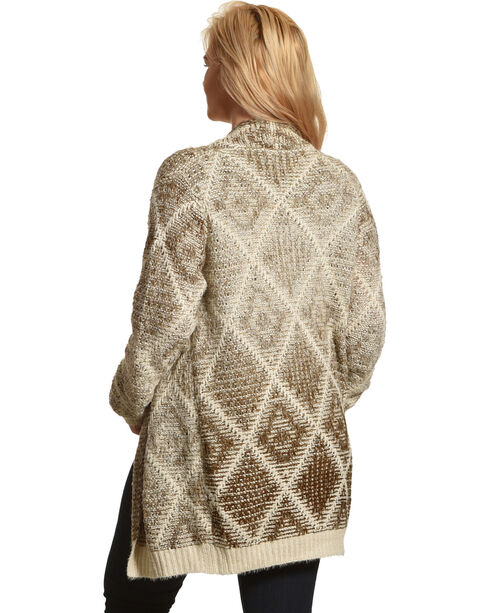Mystree Women's Argyle Knit Cardigan, Multi, hi-res