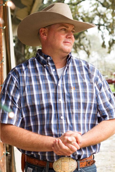 Cinch Men's Black Tri-Blend One Pocket Short Sleeve Shirt, Black, hi-res