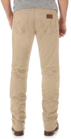 Wrangler Retro® Men's Light Brown Slim Stretch Jeans - Straight, , hi-res