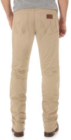 Wrangler Retro Men's Light Brown Slim Straight Jeans - Long, , hi-res