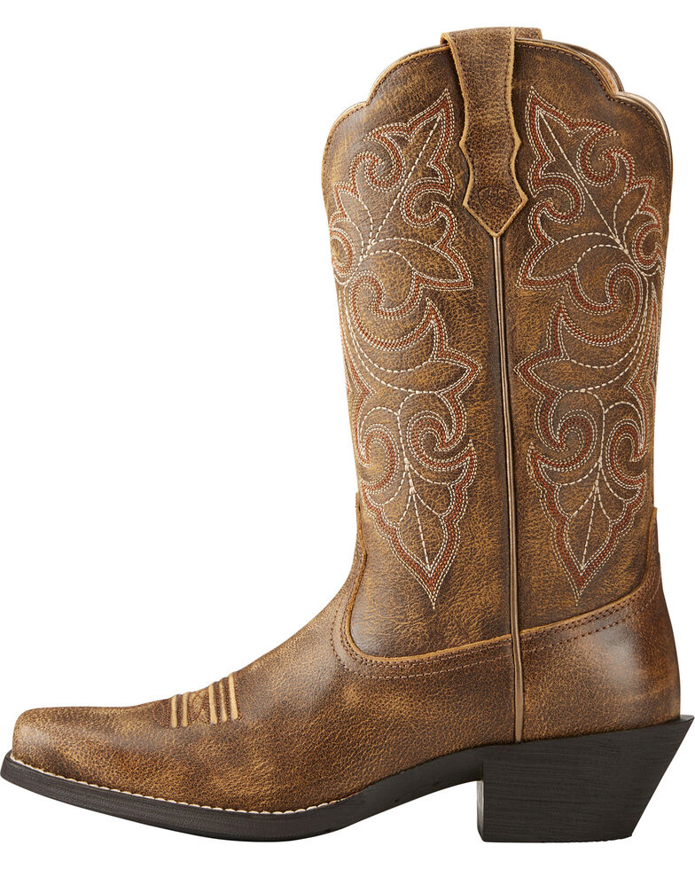 0d04e199484 Ariat Women s Round Up Distressed Leather Cowgirl Boots – Square Toe
