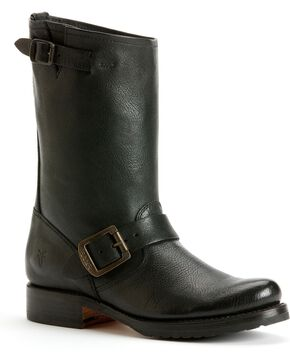 Frye Women's Veronica Short Boots - Round Toe, Black, hi-res