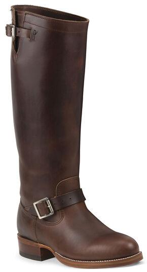 Chippewa Men's 1937 Original Chocolate Brown Engineer Boots - Round Toe, Chocolate, hi-res