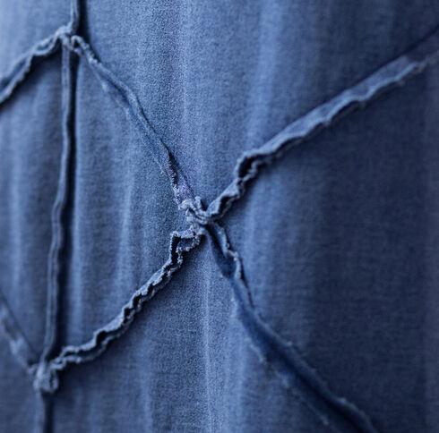 Ryan Michael Indigo Pieced Raw Edge Skirt, Indigo, hi-res