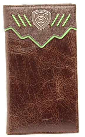 Ariat Shield Concho Rodeo Wallet, Brown, hi-res