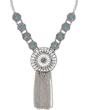Shyanne Women's Dream Catcher Necklace , Silver, hi-res
