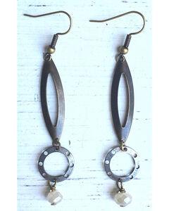InspireDesigns Women's Silver Metal Teardrop Earrings , Silver, hi-res