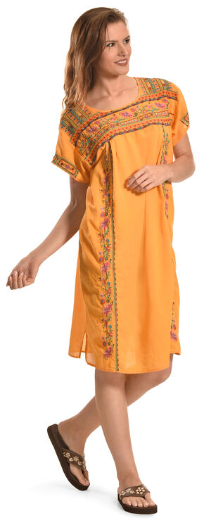 3J Workshop Malea Pleated Peasant Tunic, Mandarin, hi-res