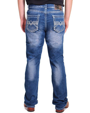 Rock & Roll Cowboy Denim Men's Relaxed Double Barrel Jeans -  Straight Leg , Blue, hi-res