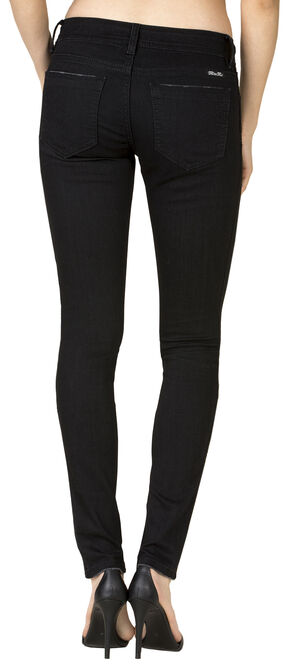 Miss Me Women's Black Mid-Rise Skinny Jeans - Extended Sizes , Black, hi-res