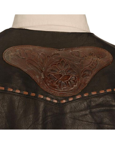 Kobler Tooled Leather Vest, Black, hi-res
