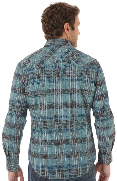 Wrangler Retro Men's Plaid Paisley Western Shirt, Multi, hi-res