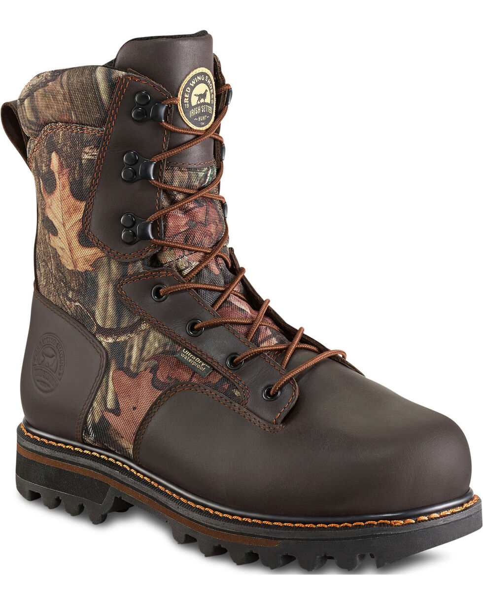 Irish Setter by Red Wing Shoes Men's Gunflint II Mossy Oak Insulated UltraDry Boots, Camouflage, hi-res