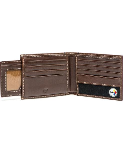 Jack Mason Men's Pittsburgh Stadium Sliding 2 in 1 Wallet , Brown, hi-res