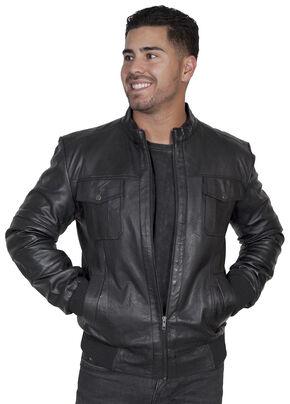 Scully Men's Black Lamb Jacket, Black, hi-res