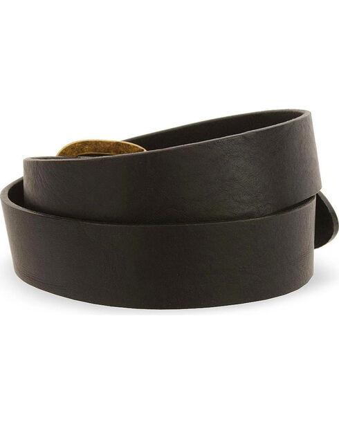 Justin Basic Leather Work Belt - Reg & Big, Black, hi-res