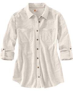Carhartt Women's Medina Shirt, Cream, hi-res