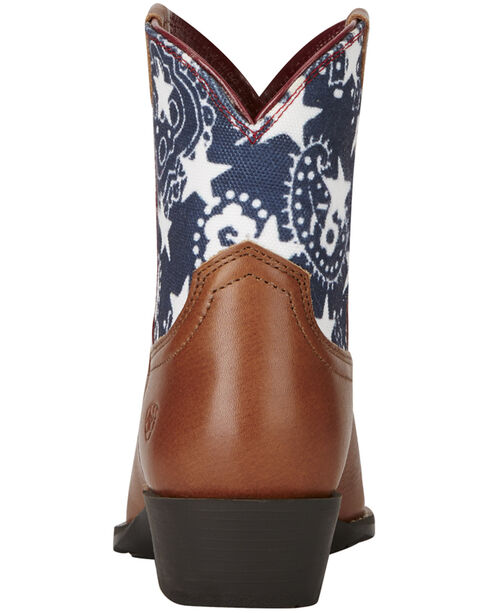 Ariat Kid's Brown July Boots - Snip Toe, Brown, hi-res