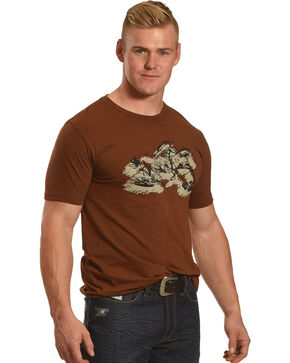 Cody James Men's Running Horse Short Sleeve T-Shirt, Rust Copper, hi-res