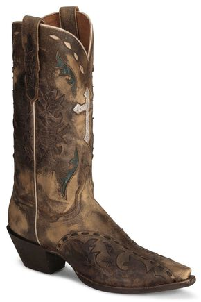Dan Post Anthem Cross Vintage Cowgirl Boot - Snip Toe, Tan, hi-res