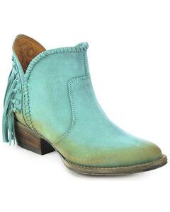 Circle G Fringe Short Boots - Round Toe, , hi-res