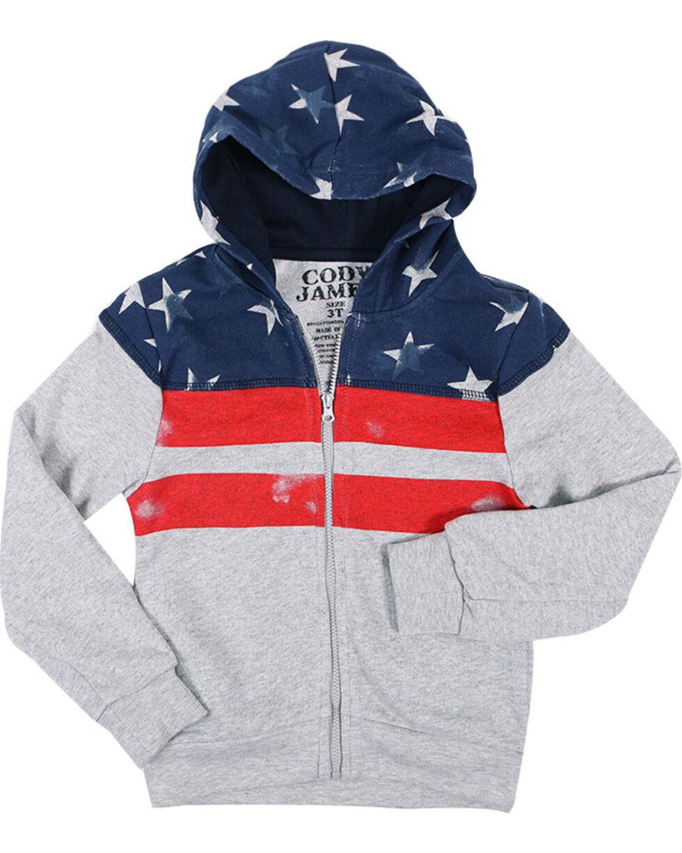 Cody James Toddler Boys' Distressed American Flag Jacket , Grey, hi-res