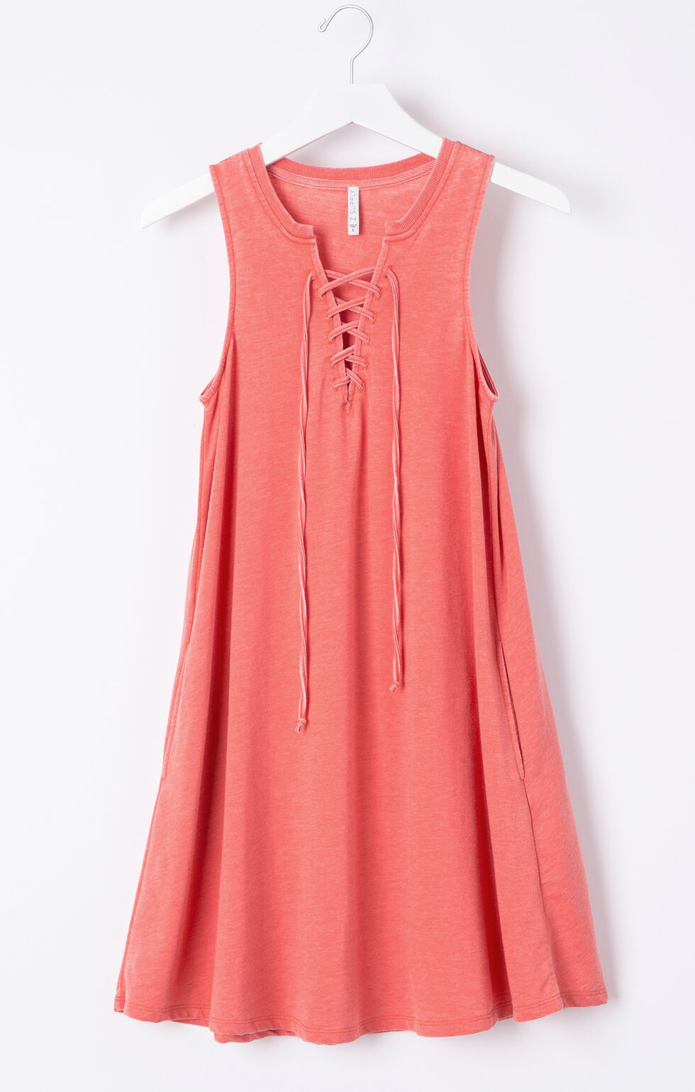 Z Supply All Tied Up Dress, Coral, hi-res